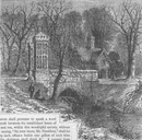 FULHAM. The moat, Fulham Palace. London c1880 old antique print picture